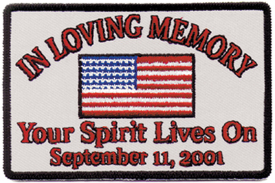 Hot Leathers In Loving Memory Embroidered Patch