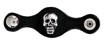 Carroll Leather Skull Leather Vest Extenders