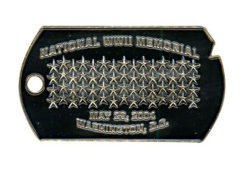 Gunz National WWII Memorial May 29, 2004 Washington D.C. Pin