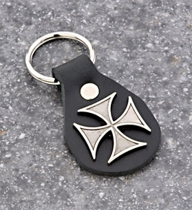 Eagle Leather Maltese Cross Collection Key Fob