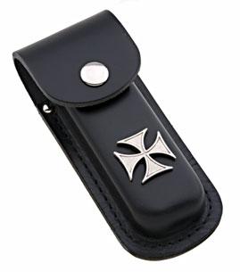 Eagle Leather Maltese Cross Concho Molded Knife Case