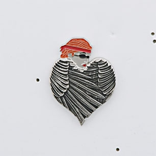 Gunz Red Headed Women Biker Pin
