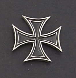 Hot Leathers Skinny Iron Cross Hand Carved Pewter Pin