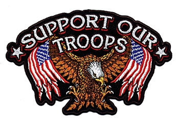 GoodSports Support Our Troops Embroidered Patch
