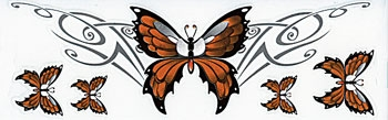 Lethal Threat Orange Butterfly Decal