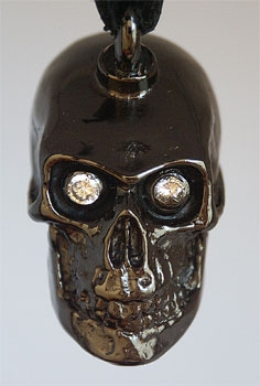 Cranium Train Skull Bells with White Eyes