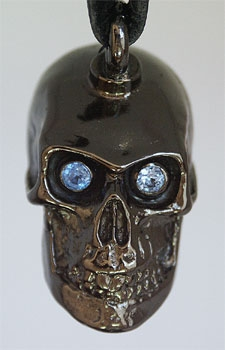 Cranium Train Skull Bells with Blue Eyes