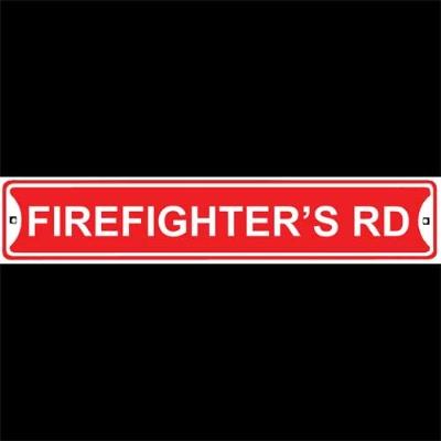 Nostalgic Images Firefighter's Road Street Sign