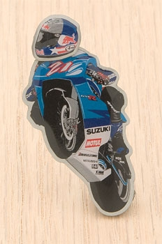 Moto 1 USA John Hopkins Bobble Head Pin