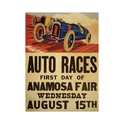1917 Anamosa, Iowa County Fair Auto Race Poster