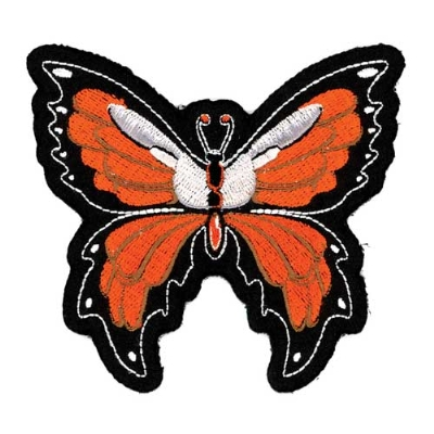 Lethal Threat Orange Butterfly Embroidered Patch