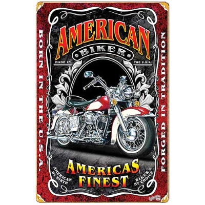 American Biker Heavy Metal Vintage Sign