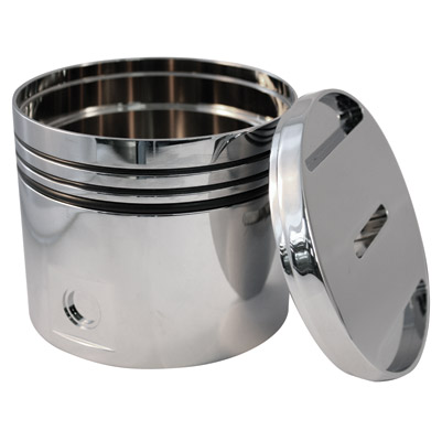 Novello Piston Powder-Coated Grey Bank
