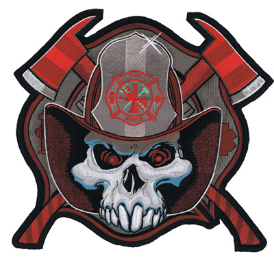Lethal Threat Fireman Skull Axes Patch