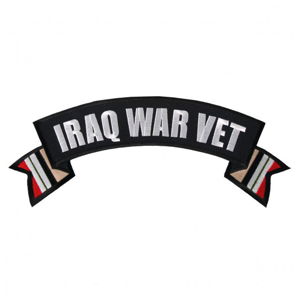 Hot Leathers Iraq War Vet Flag Banner Patch
