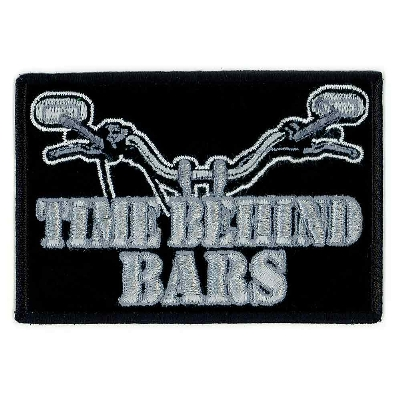Time Behind Bars Embroidered Patch