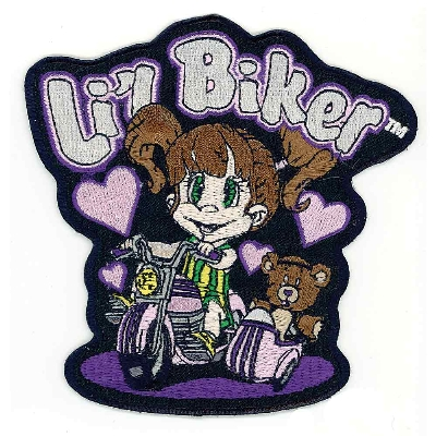 Lil Biker Embroidered Patch