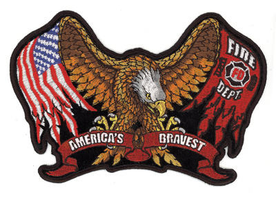 Hot Leathers Fire/Eagle Embroidered Patch