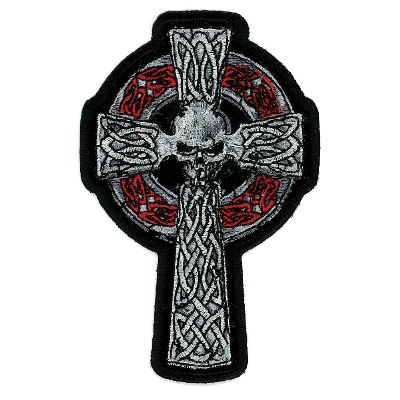 Hot Leathers Skull and Cross Embroidered Patch