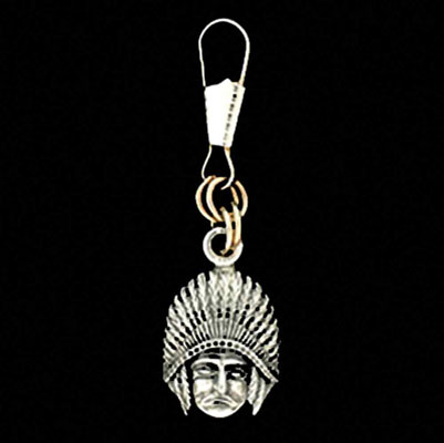 Guardian Bell Indian Chief Zipper Pull