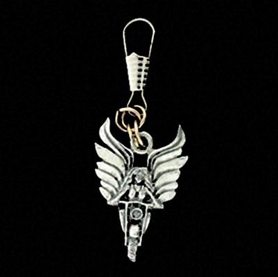 Angel Rider Zipper Pull