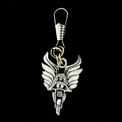 Guardian Bell Angel Rider Zipper Pull