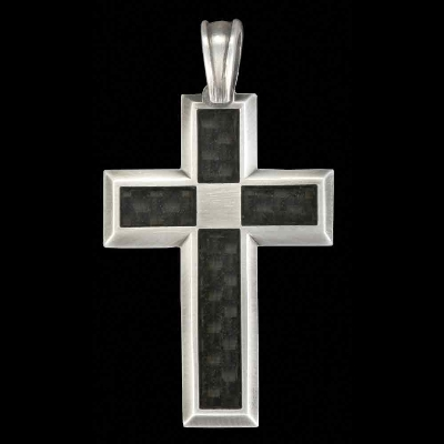 Bico Tech Cross Carbon Fiber Pendant