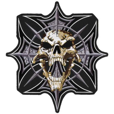 Lethal Threat Gothic Skull Cross Embroidered Patch
