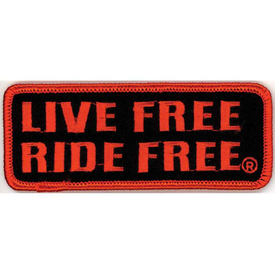 Hot Leathers Live Free Ride Hard Attitude Patch