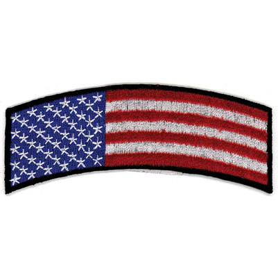 Hot Leathers American Flag Arm Rocker Patch
