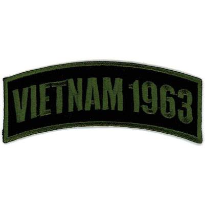 GoodSports Vietnam 1963 Arm Rocker Patch