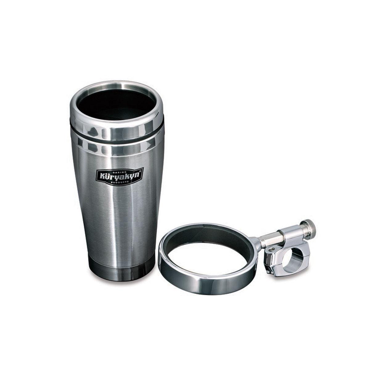 Kuryakyn Universal Drink Holder With Stainless Steel Mug