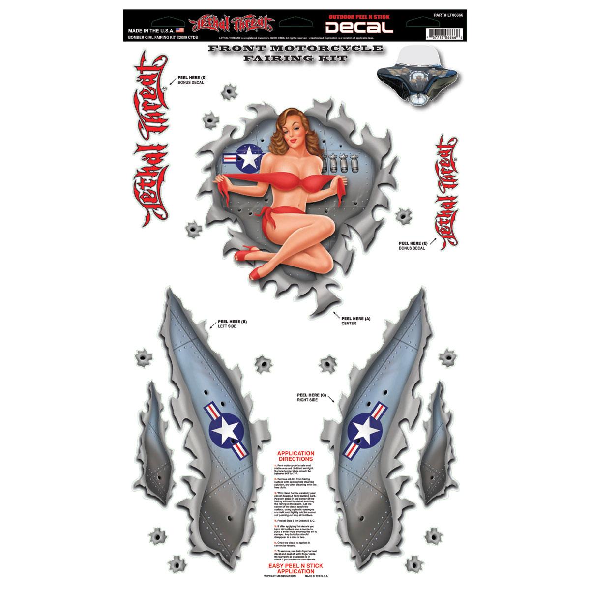 Lethal Threat Bomber Girl Fairing Kit