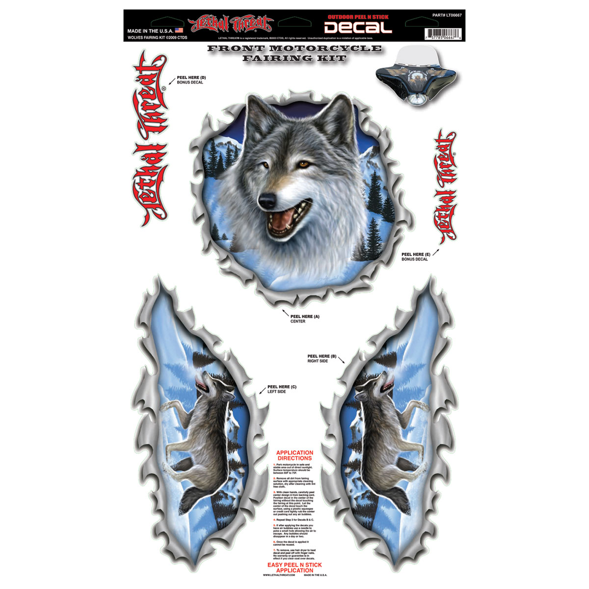 Lethal Threat Wolves Fairing Kit