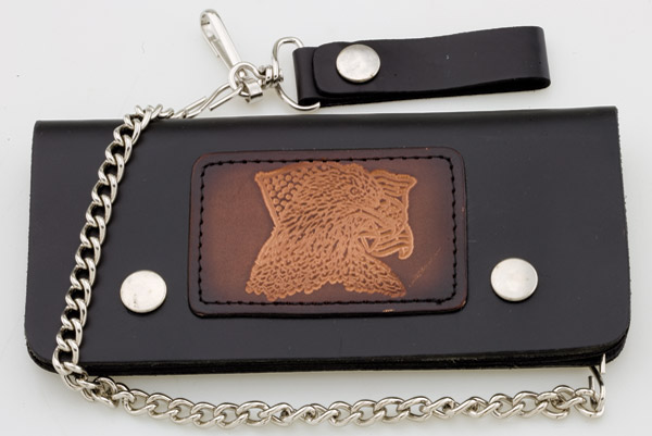 Carroll Leather 7-3/4″ Five-Pocket Freedom Eagle Chain Wallet