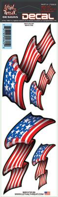 Lethal Threat USA Flag Set Decal