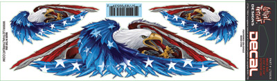 Lethal Threat Feathered USA Eagle Decal