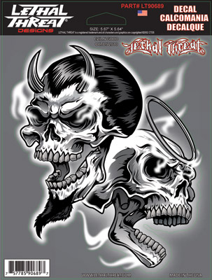 Lethal Threat Evil N Good Decal