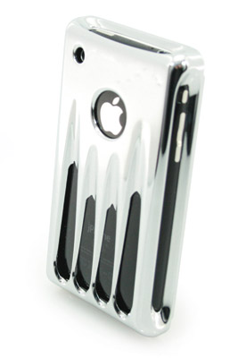 Wicked Metal Jacket Classic Billet iPhone 3G/3GS Chrome Case