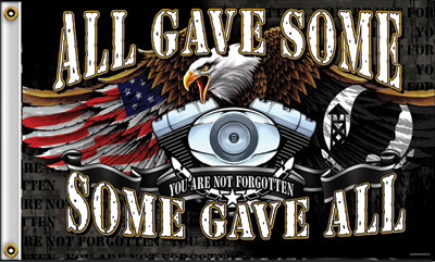 All Gave Some/Some Gave All V-Twin Flag