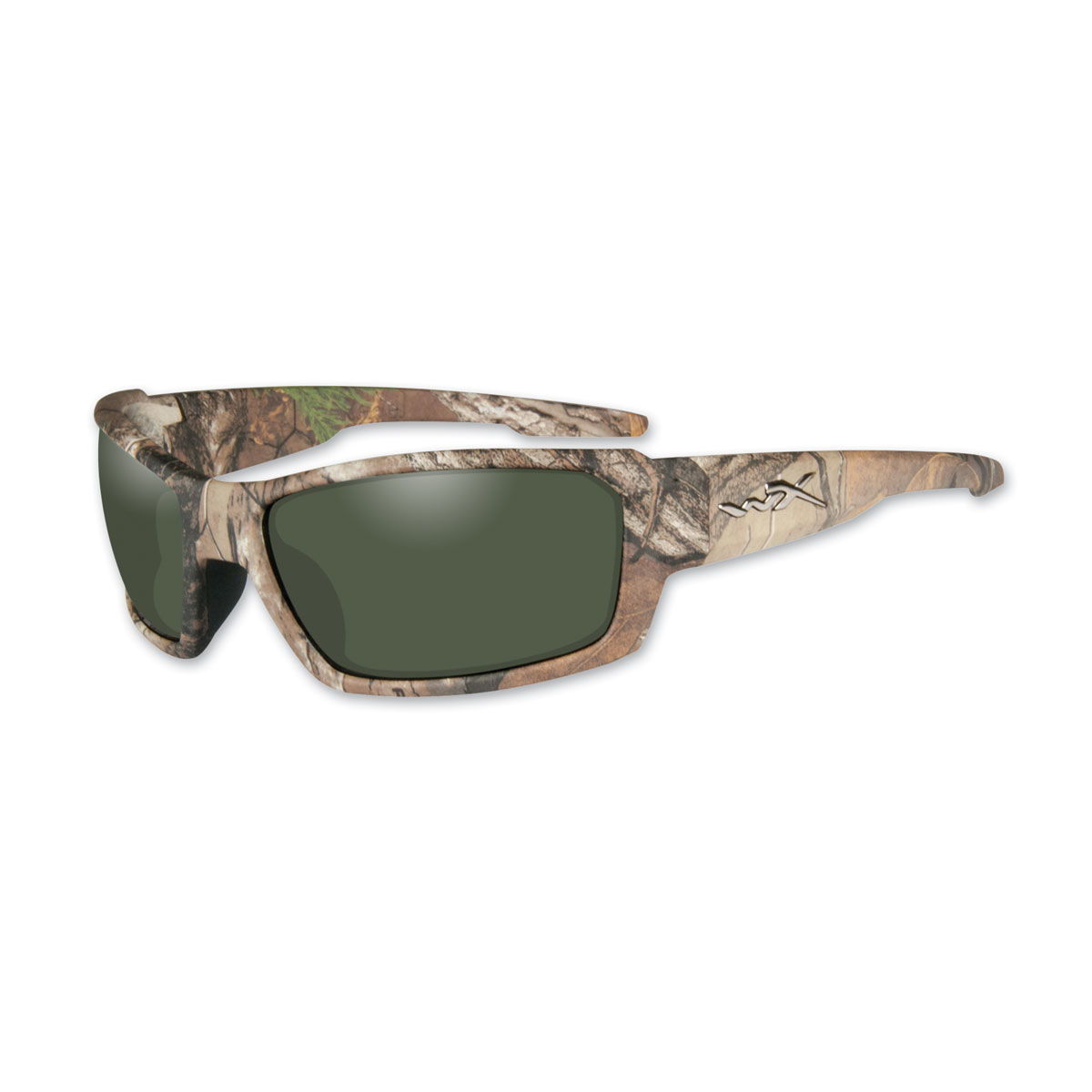Wiley X Rebel Realtree XTRA Camo Sunglasses with Polarized Green Lens
