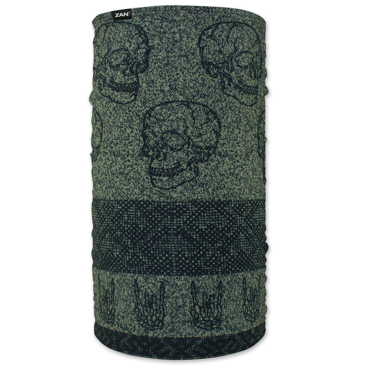 ZAN headgear Fleece Lined Skull Fairisle Motley Tube