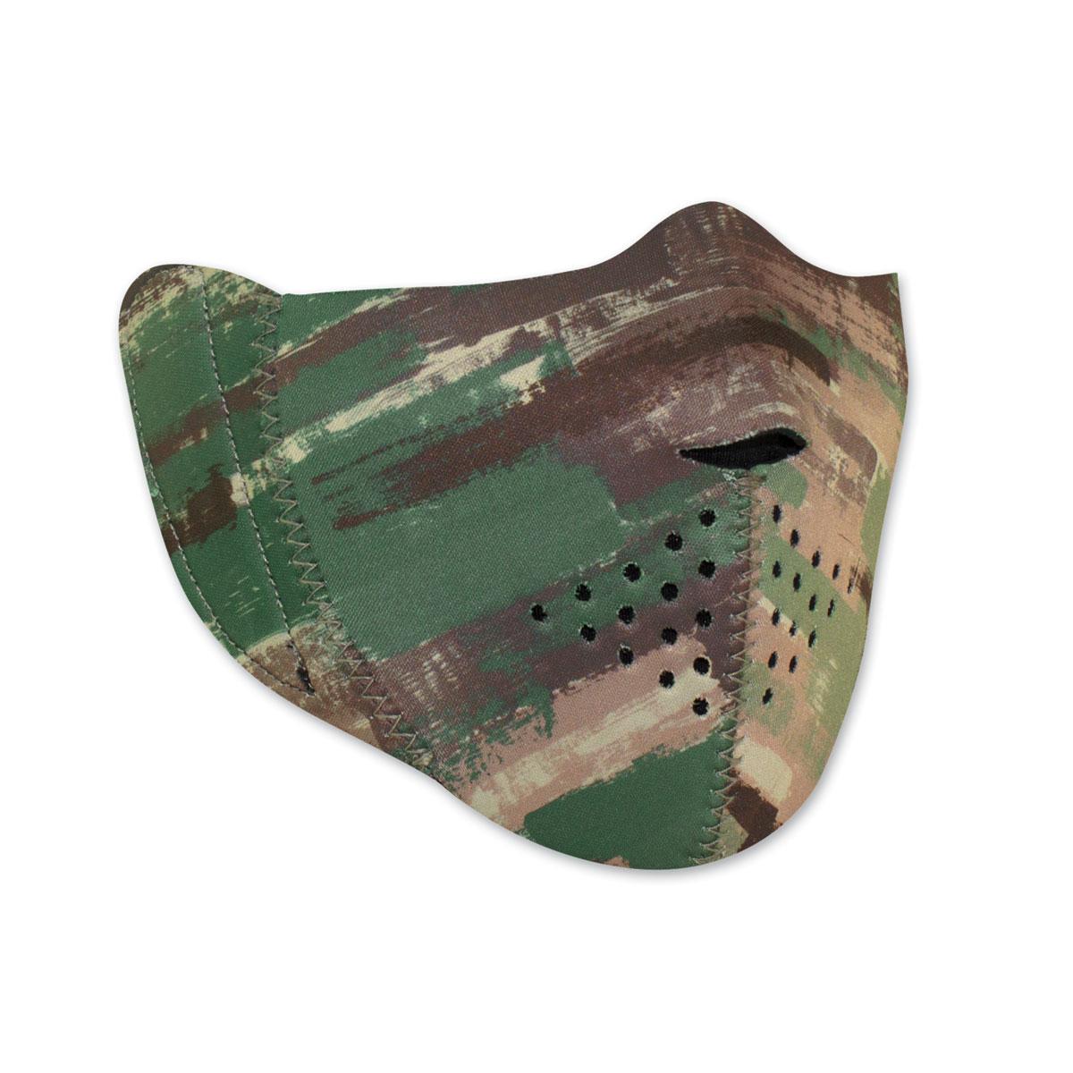 ZAN headgear Modi-Face Neoprene Camo Half Mask