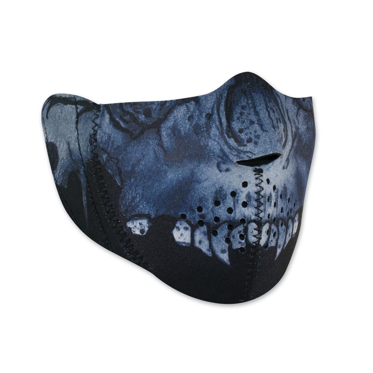ZAN headgear Modi-Face Neoprene Midnight Skull Half Mask