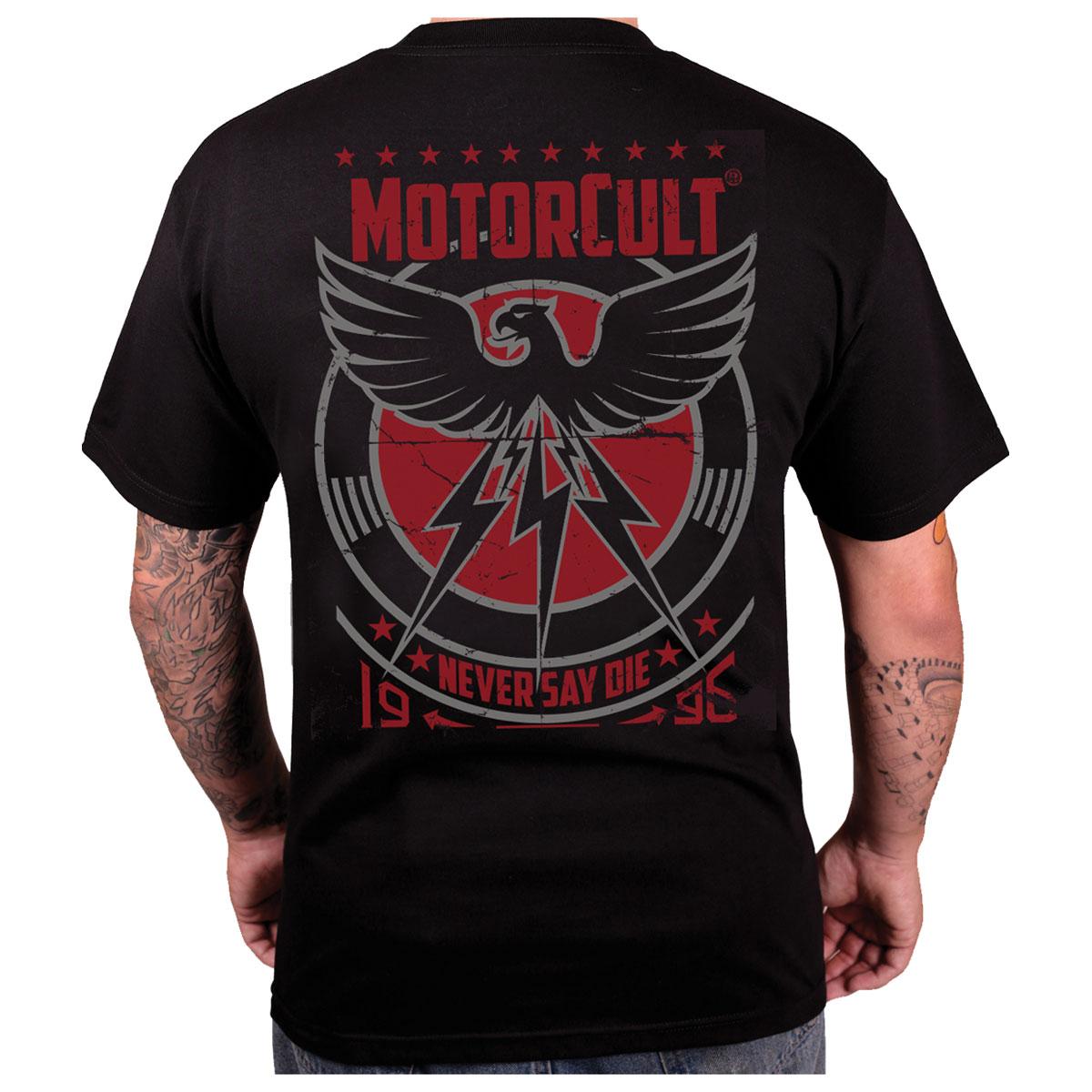 MotorCult Men's Never Say Die Black T-Shirt