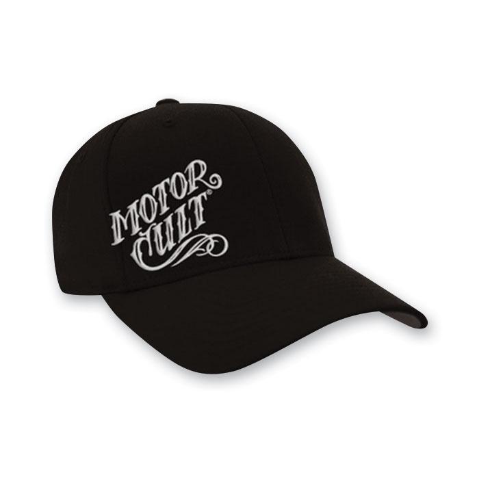 MotorCult Men's High Voltage Felx-Fit Black Hat