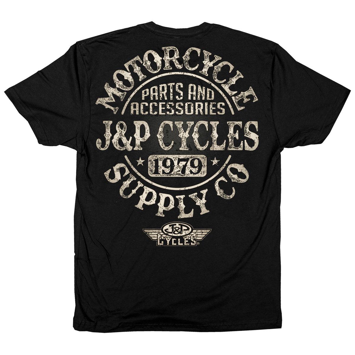 J&P Cycles Men's Big Coaster Black T-Shirt