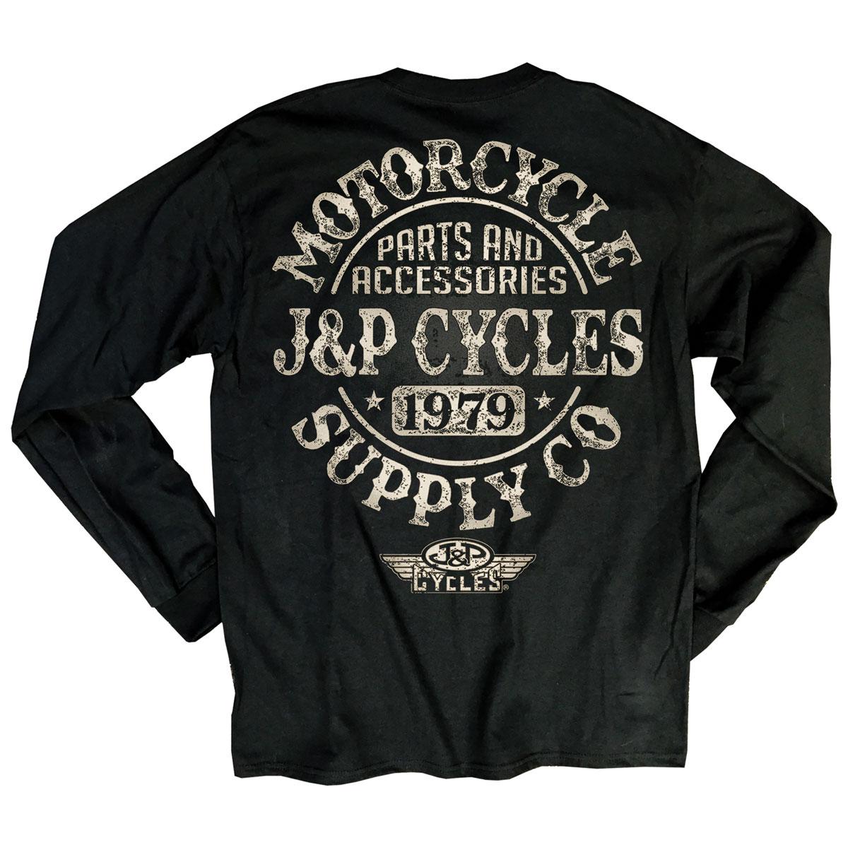 J&P Cycles Men's Big Coaster Black Long-Sleeve T-Shirt
