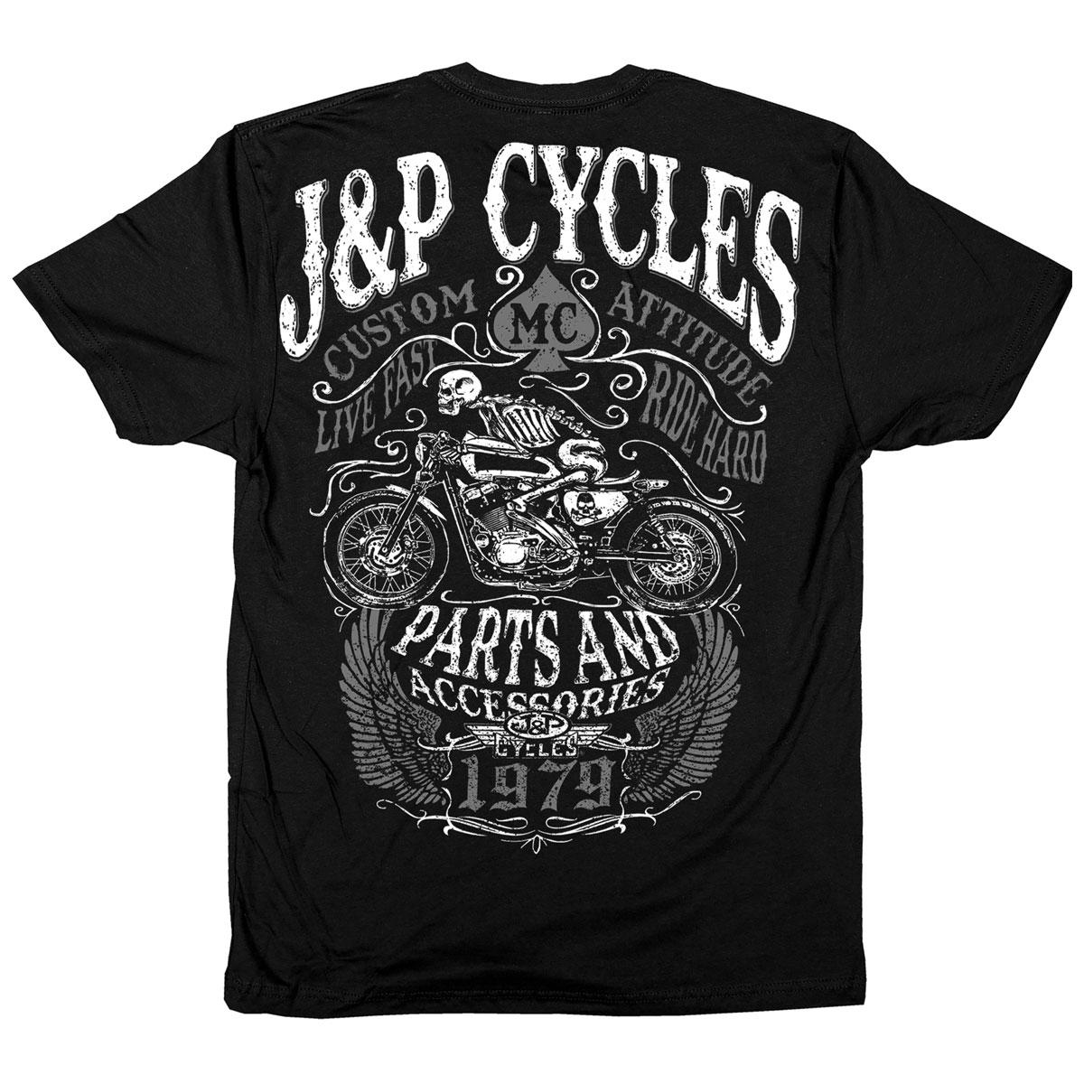 J&P Cycles Men's Death Rider Black T-Shirt
