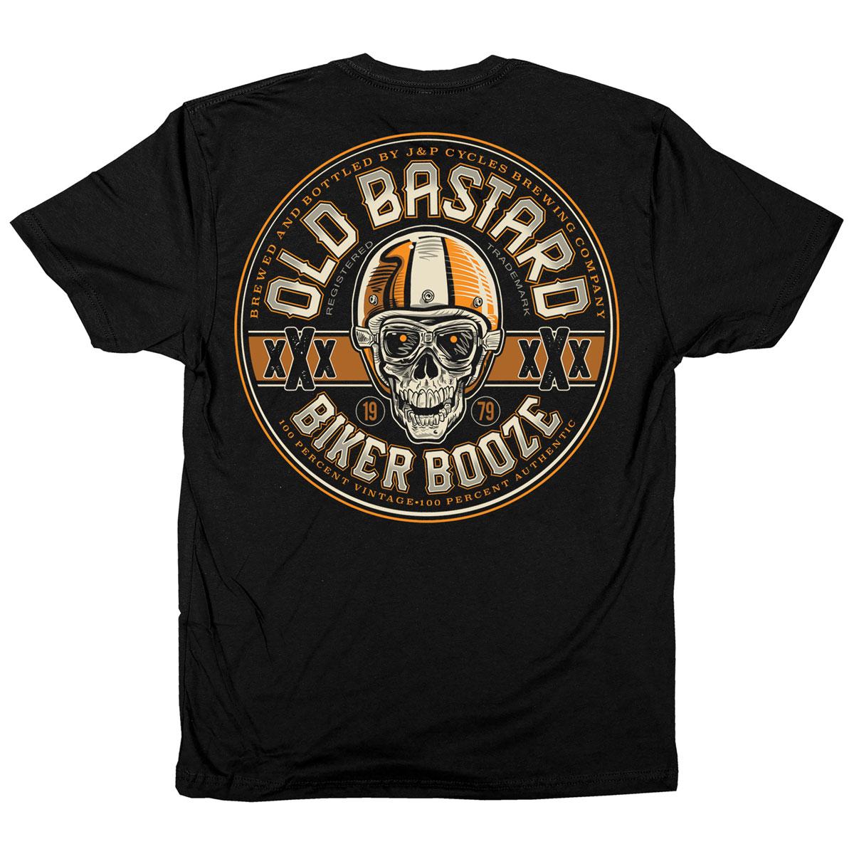 J&P Cycles Men's Old Bastard Black T-Shirt